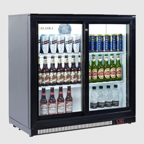 Artikcold Alaska BBC-92H Double Sliding Door Bar Cooler